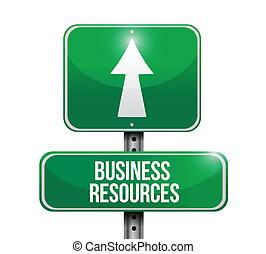 イラスト, ビジネス, 資源, 道 印