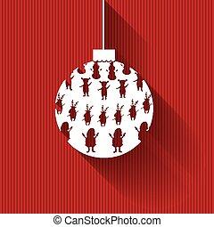 イラスト, ベクトル, クリスマス, ボール