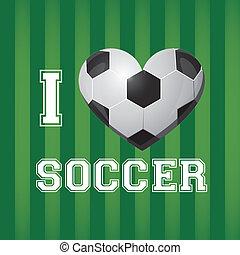 イラスト, ボール, サッカー