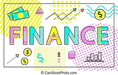 イラスト, 会社, ベクトル, 金融, ビジネス