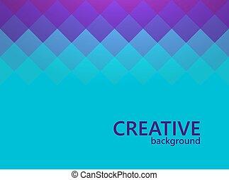 イラスト, 創造的, バックグラウンド。, ベクトル, デザイン, template., モザイク