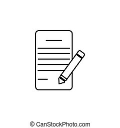 イラスト, 執筆ペン, ベクトル, パッド, 線, icon.