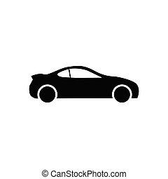 イラスト, 平ら, ベクトル, 網, ロゴ, 自動車, 自動車, スタイル, ui., シンボル, デザイン, アイコン, あなたの