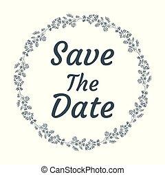 イラスト, 招待, eps, 背景, ベクトル, ファイル, 結婚式, 白, を除けば, 日付, カード