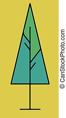イラスト, 木, クリスマス, ベクトル