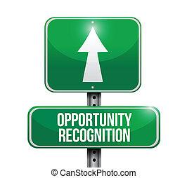 イラスト, 機会, 認識, 道 印