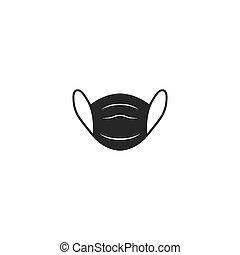 イラスト, 汚染の マスク, ベクトル, アイコン