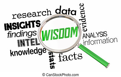 イラスト, 知恵, ガラス, 情報, 事実, 拡大する, 研究, 3d, 知識