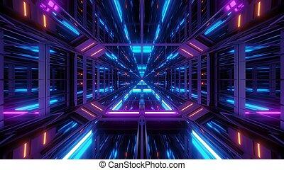 イラスト, 背景, 3d, 未来派, 反射, トンネル, 壁紙, scifi, すてきである, ガラス