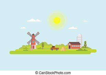 イラスト, 農業
