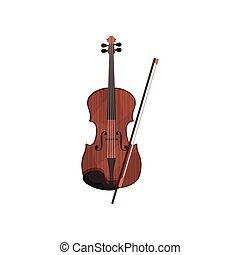 イラスト, 道具, ベクトル, 背景, バイオリン, 白, ミュージカル