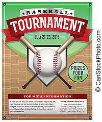 イラスト, 野球, トーナメント