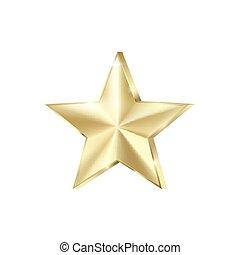 イラスト, 金, glitters., 光沢がある, sparkles., 隔離された, 背景, 星, 金, 四散しなさい, 白, ベクトル