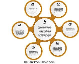 イラスト, infographic, ライン, テンプレート, icons., ベクトル, レポート