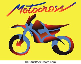 イラスト, moto, 交差点, ベクトル, オートバイ, スポーツ, 極点