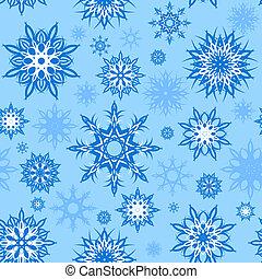 イラスト, seamless, クリスマス, ベクトル, バックグラウンド。, theme., 雪片