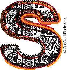 インカ人, ベクトル, 壷, イラスト