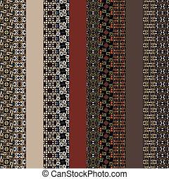 インカ, ベクトル, pattern., イラスト