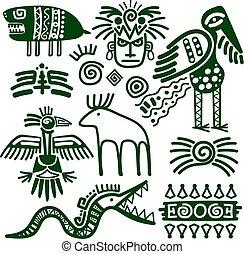 インカ, 種族, ネイティブ, aztec, サイン
