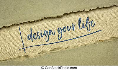 インスピレーションを与える, あなたの, デザイン, 生活, メモ