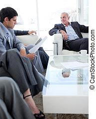 インタビュー, 人々, 仕事, ビジネス, 前に, 多民族, 論じる