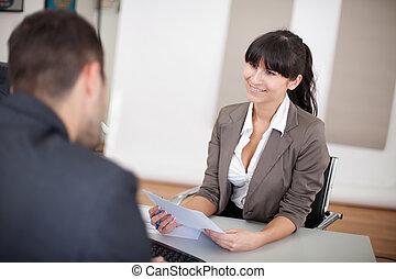 インタビュー, 女性実業家, 若い