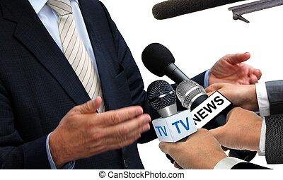 インタビュー, 媒体, スポークスマン