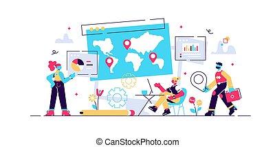 インターナショナル, 世界的である, 研究, ビジネス, 会社