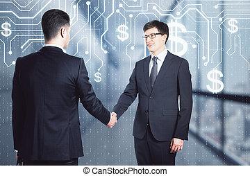 インターナショナル, 概念, チームワーク, cryptocurrency