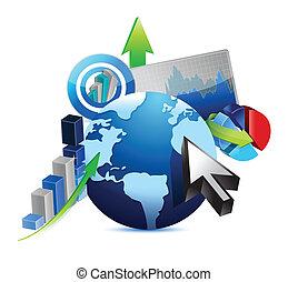 インターナショナル, 概念, デザイン, ビジネス 実例