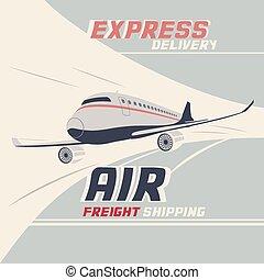 インターナショナル, 貨物, 出荷, 空気