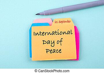 インターナショナル, 9 月, 平和, 日, 21