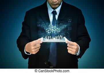 インターネットビジネス, 雲, サーバー