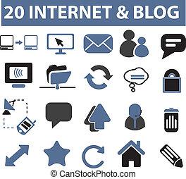 インターネット, サイン, blog, 20