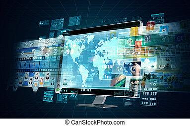インターネット, サーバー, マルチメディア