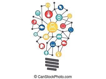 インターネット, デジタル, iot, 革新