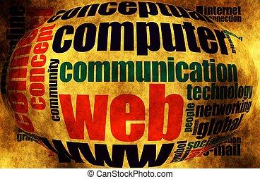 インターネット, 単語, 雲