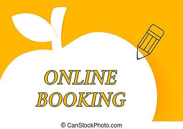 インターネット, 指すこと, 写真, によって, ビジネス, スペース, apple., 執筆, メモ, オンラインで, 白, 空, 鉛筆, 形態, 提示, ホテル, booking., 飛行機, 予約, 切符, コピー, 調停, アウトライン, showcasing