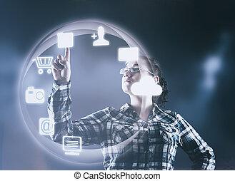 インターフェイス, ユーザー, 未来派