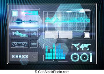 インターフェイス, 合成の イメージ, ビジネス