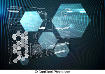 インターフェイス, 合成, 技術, イメージ