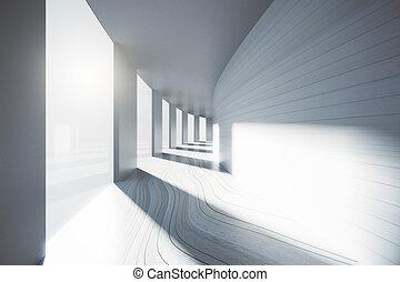 インテリア・デザイン, 空, 廊下