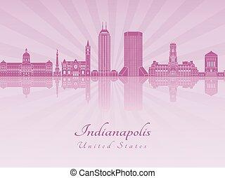 インディアナポリス, 放射, 蘭, スカイライン, 紫色