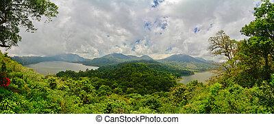 インドネシア, 湖, バリ, 北, twin