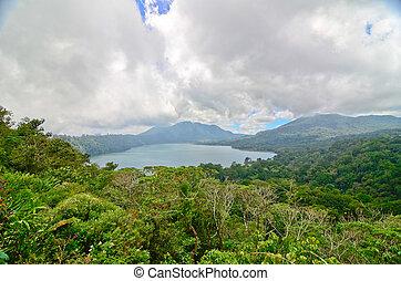 インドネシア, 湖, バリ, twin, 北