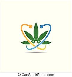 インド大麻の葉, マリファナ, ロゴ