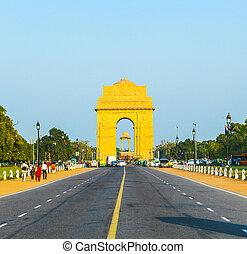 インド, デリー, 門, 新しい