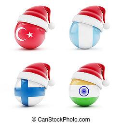 インド, トルコ, フィンランド, クリスマス, guatemala