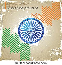 インド, 三色旗, 背景