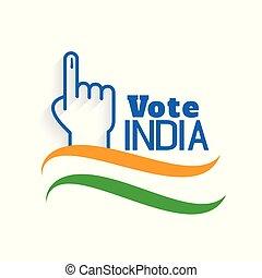 インド, cote, 概念, デザイン, 背景